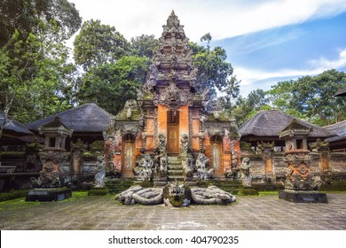 Temple at Monkey Forest Sanctuary in Ubud, Bali, Indonesia.