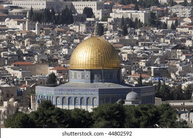 The Temple Mount, also know as Mount Moriah in Jerusalem, Israel.