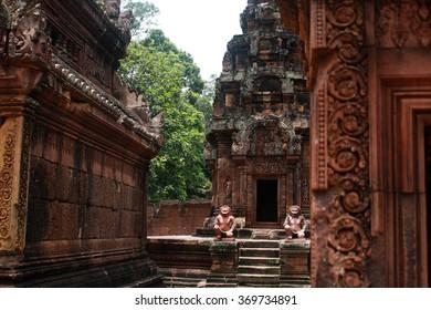 Temple near Angkor Wat in Cambodia.