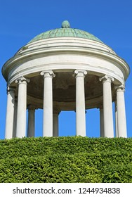 temple with neoclassical style columns and a large dome