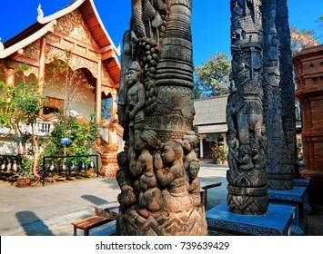 temple Ngam Muang, Chiang Rai, Thailand