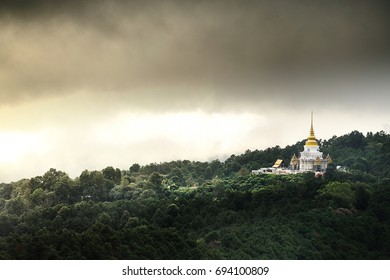 Temple in Northern Thailand Hill