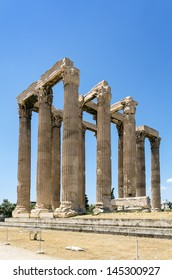 The Temple of Olympian Zeus is a colossal ruined temple in the centre of the Greek capital Athens that was dedicated to Zeus