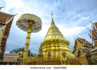 Temple on the mountain in Chiang Mai (Doi Suthep). Took in the very late afternoon before evening twilight.