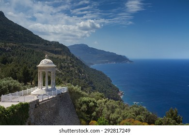 Temple overlooking the coast of Mallorca, Spain