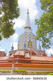 Temple with pagoda, Thailand
