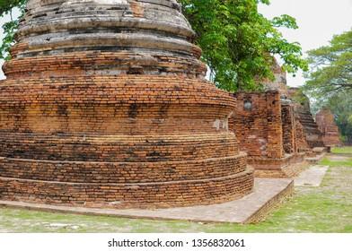 Temple: Pagoda of Wat Phra Si Sanphet at Phra Nakhon Si Ayutthaya, Thailand, Ancient, Traditional