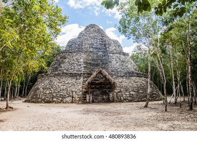 Temple of the Paintings at the ruins of the Mayan city Coba, Mexico