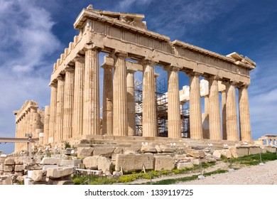 The temple of Parthenon at Acropolis in Athens