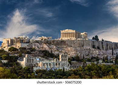 Temple of Parthenon, Athenian Acropolis, Athens, Greece