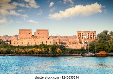 Temple of Philae was originally located near the expansive First Cataract of the Nile in Upper Egypt and was the site of an Egyptian temple complex.