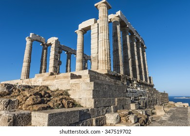 The temple of Poseidon at Cape Sounion. Greece