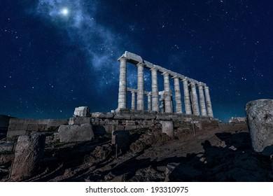 Temple of Poseidon at Cape Sounion,Greece