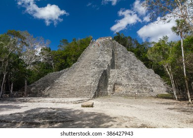 Temple Pyramid in Coba, Yucatan, Mexico
