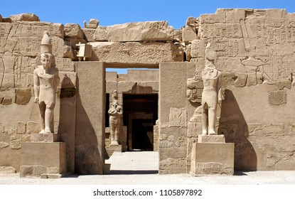 Temple of Ramses III in the temple complex of Karnak in Egypt