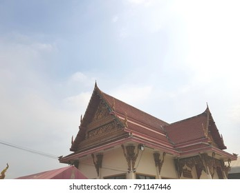 Temple roof bathed in Sunlight