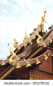 temple roof Thailand on the top background