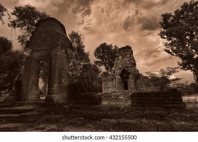 Temple ruins in Angkor