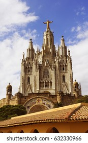 Temple of the Sacred Heart of Jesus on Tibidabo mountain, Barcelona, Spain, Europe