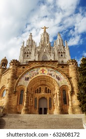 Temple of the Sacred Heart of Jesus on Tibidabo mountain, Barcelona, Spain, Europe