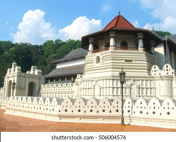 Temple Of The Sacred Tooth Relic, located in the Royal Palace Complex Of The Former Kingdom Of Kandy, Sri Lanka