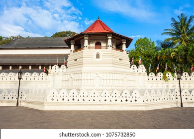 Temple of the Sacred Tooth Relic or Sri Dalada Maligawa in Kandy, Sri Lanka. Sacred Tooth Relic Temple is a Buddhist temple located in the royal palace complex of the Kingdom of Kandy.