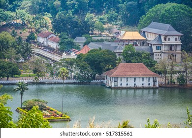 Temple Of The Sacred Tooth Relic That Is Located In The Royal Palace Complex Of The Former Kingdom Of Kandy, Sri Lanka, which Houses The Relic Of The Tooth Of Buddha