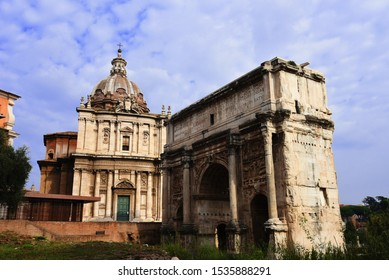 The Temple of Saturn was an ancient Roman temple located at Roman forum, Rome, Italy