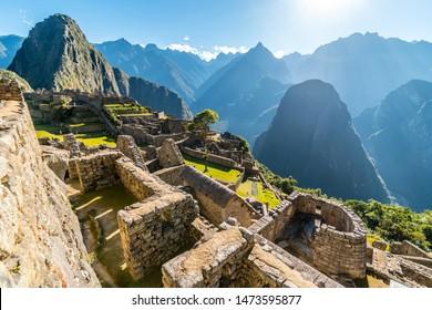 Temple of the Sun, Machu Picchu site, Cusco, Peru, South America