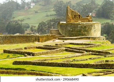 TEMPLE OF THE SUN RUINS AT INGAPIRCA ECUADOR