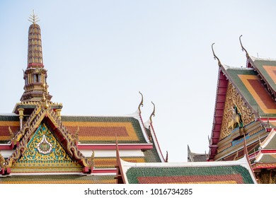 Temple thai style roof.Thai architecture in Buddhism. Identity of the art of Southeast Asian countries who buddhism religion. image for background, architecture.