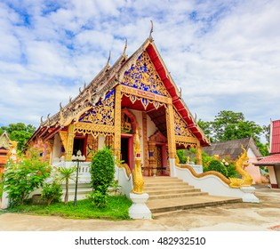 Temple thai Wat Pong Sanuk. The temple is located in Lampang Province. It is one of travel locations in Lampang. The temple have received a UNESCO award for cultural heritage conservation