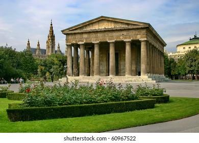 "The temple of Theseus in Public park - ""Volksgarten"" in Vienna."