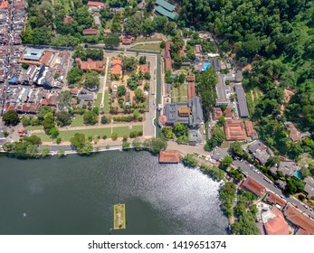 Temple of tooth relic, Kandy, Sri Lanka, Aerial view, Famous places, must visit places in Sri Lanka, drone shots Sri Lanka