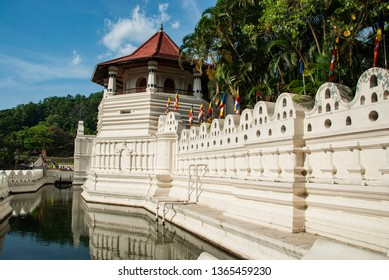 Temple of tooth seen from outside in Kandy in Sri Lanka