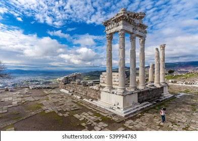 The Temple of Trajan in Pergamon Ancient City