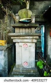 Temple in ubud's street,bali