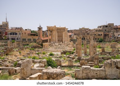 The Temple of Venus and Temple of the Muses. The ruins of the Roman city of Heliopolis or Baalbek in the Beqaa Valley. Baalbek, Lebanon