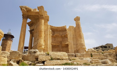 The Temple of Venus. The ruins of the Roman city of Heliopolis or Baalbek in the Beqa Valley. Baalbek, Lebanon