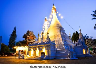 Temple Wat Phra That Doi Kong Mu at Mae Hong Son, Thailand.