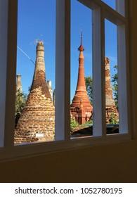 Temple windows background 3 style Pagoda
