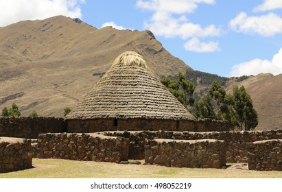 The Temple of Wiracocha in Raqchi ,Peru