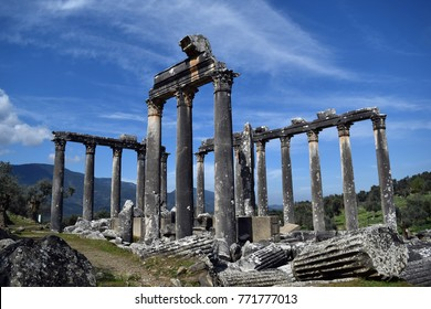 Temple.Ancient temple.EUROMOS.THE TEMPLE OF ZEUS LEPSYNOS