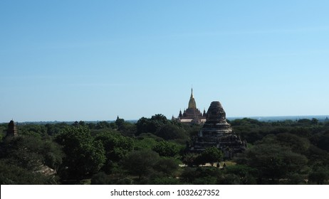 The Temples of bagan in Myanmar, The ruins of Bagan has 2200 temples and pagodas.