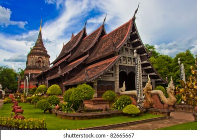 Temples in Chiang Mai, Thailand.