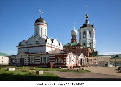 Temples of the Nikolo-Peshnoshsky Monastery in Lugovoi, Moscow Region, Russia