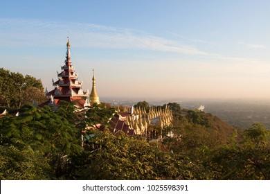 Temples on Mandalay Hill, Mandalay, Myanmar
