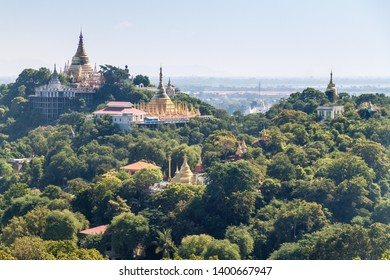 Temples on Sagaing Hill near Mandalay, Myanmar