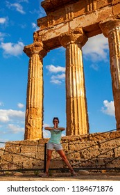 Temples valley close to Agrigento, Sicily, Italy