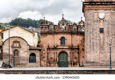 The Templo de la Sagrada Familia, Church of the Holy Family, adjoins the Cusco Cathedral on the Plaza de Armas. It is the  renaissance church built in 1735.